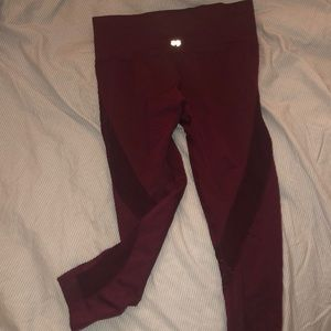 Work out leggings; maroon forever 21